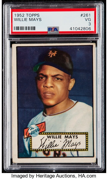 1952 Topps Willie Mays 261 Psa Vg 3 Baseball Cards Singles