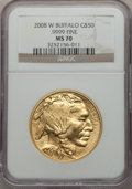 2008-W $50 One-Ounce Gold Buffalo MS70 NGC....(PCGS# 400037)