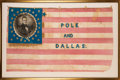 Political:Textile Display (pre-1896), Polk & Dallas: Highly Significant Large 1844 Campaign Flag Banner. ...
