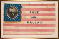 Polk & Dallas: Highly Significant Large 1844 Campaign Flag Banner
