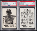 Baseball Cards:Sets, 1981 WTF Co. Rochester Red Wings Complete Minor League Set (25) With Cal Ripken Jr. PSA NM-MT 8....
