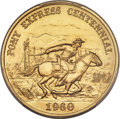 So-Called Dollars, 1960 Pony Express Centennial So-Called Half Dollar, Gold, MS68 PCGS....