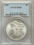 Morgan Dollars: , 1899 $1 MS65 PCGS. PCGS Population: (1500/337). NGC Census:(624/81). CDN: $750 Whsle. Bid for problem-free NGC/PCGS MS65. ...
