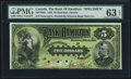 Canadian Currency, Hamilton, ON- Bank of Hamilton $5 June 1, 1892 Ch. # 345-16-02SSpecimen.. ...