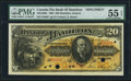 Canadian Currency, Hamilton, ON- Bank of Hamilton $20 June 1, 1892 Ch. # 345-16-06SSpecimen.. ...