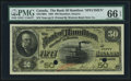 Canadian Currency, Hamilton, ON- Bank of Hamilton $50 June 1, 1892 Ch. # 345-16-08S Specimen.. ...
