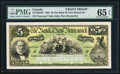 Canadian Currency, Saint John, NB- Bank of New Brunswick $5 189_ Ch. # 515-16-02P FaceProof.. ...