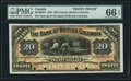 Canadian Currency, Victoria, BC- Bank of British Columbia $20 Jan. 1, 1894 Ch. # 50-16-06P Face Proof.. ...