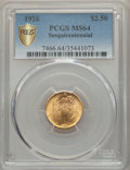 Commemorative Gold, 1926 $2 1/2 Sesquicentennial Quarter Eagle MS64 PCGS Secure. PCGSPopulation: (4477/2238 and 110/40+). NGC Census: (2...