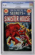 Bronze Age (1970-1979):Horror, Secrets of Sinister House #8 (DC, 1972) CGC NM 9.4 Off-white towhite pages....