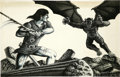 Original Comic Art:Illustrations, Herb Arnold - Barbarian Illustration Original Art (undated)....