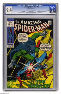 The Amazing Spider-Man #93 Oakland pedigree (Marvel, 1971) CGC NM 9.4 Off-white to white pages. Prowler appearance. Firs...