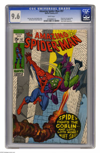 The Amazing Spider-Man #97 (Marvel, 1971) CGC NM+ 9.6 White pages. Green Goblin cover appearance. Issue not approved by...