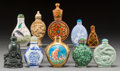 Asian:Chinese, A Group of Ten Chinese Snuff Bottles. 3-3/4 inches (tallest). ...(Total: 10 Items)