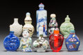 Asian:Chinese, A Group of Ten Chinese Snuff Bottles. 4-1/8 inches (tallest). ...(Total: 10 Items)