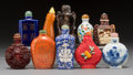 Asian:Chinese, A Group of Ten Chinese Snuff Bottles. 3-3/8 inches (tallest). ...(Total: 10 Items)