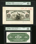 Canadian Currency, Toronto, ON- United Empire Bank of Canada $5 1.5.1906 Ch.#760-10-02FPb and #760-10-02BP Front and Back Proofs.. ... (Total:2 notes)