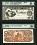 Canadian Currency, Toronto, ON- Canadian Bank of Commerce $5 Jan. 8, 1907 Ch. #75-14-10P Face and Back Proofs.. ... (Total: 2 notes)