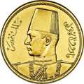 "Egypt, Egypt: Farouk gold Proof ""Royal Wedding"" 500 Piastres AH 1357(1938) PR66 ANACS,..."