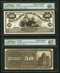 Canadian Currency, Toronto, ON- Canadian Bank of Commerce 50 May 1, 1912 Ch. # 75-14-52P Face and Back Proofs.. ... (Total: 2 notes)