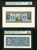 Canadian Currency, Montreal, PQ- Banque D'Hochelaga $20 1.2.1917 Ch. #360-24-18aFP and360-24-18aBP Front and Back Proofs.. ... (Total: 2 notes)