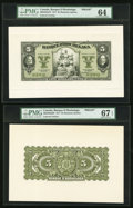 Canadian Currency, Montreal, PQ- Banque D'Hochelaga $5 1.2.1917 Ch. #360-24-02aFP and#360-24-02aBP Front and Back Proofs.. ... (Total: 2 notes)