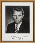 Political:Miscellaneous Political, Robert F. Kennedy: Signed Presentation Photo to Family Friend and PT-109 Crew-Member Barney Ross....