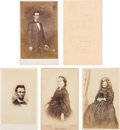 Photography:CDVs, Abraham and Mary Todd Lincoln: Four Cartes-de-Visite....