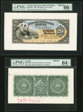 Canadian Currency, Halifax, NS- Merchants' Bank of Halifax $20 Jan. 1, 1898 Ch. # 465-20-18P Face and Back Proofs.. ... (Total: 2 notes)