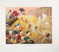 Memorabilia:Disney, Carl Barks Dam Disaster at Money Lake Signed Limited Edition Lithograph Print #33/345 (Another Rainbow, 1986)....