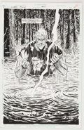 Original Comic Art:Splash Pages, Jim Aparo and Gerry Fernandez Green Arrow #87 Splash Page 16Original Art (DC, 1994)....