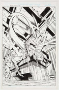 Original Comic Art:Splash Pages, Jamal Igle and Rich Perrotta Iron Fist: Wolverine #1 SplashPage 1 Original Art (Marvel, 2000)....