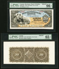 Canadian Currency, Halifax, NS- Merchants' Bank of Halifax $20 Jan. 1, 1883 Ch. #465-20-16P Face and Back Proofs.. ... (Total: 2 notes)