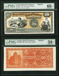 Canadian Currency, Toronto, ON- Canadian Bank of Commerce $20 Jan. 2, 1901 Ch. #75-14-34FP/BP Face and Back Proofs.. ... (Total: 2 notes)