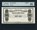 Canadian Currency, St. John's, NF- Newfoundland Government Cash Note 80¢ ND (1901-09)Ch. # NF-4fp Proof.. ...