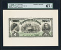 Canadian Currency, DC-17b $4 1902 Front Proof.. ...