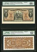 Canadian Currency, Montreal, PQ- Banque D'Hochelaga $10 Jan. 2, 1917 Ch. # 360-24-08aPFace and Back Proofs.. ... (Total: 2 notes)