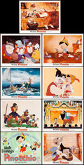 "Movie Posters:Animation, Pinocchio (Buena Vista, R-1962). Lobby Card Set of 9 (11"" X 14"").Animation.. ... (Total: 9 Items)"