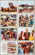 """Movie Posters:Western, How the West was Won (MGM, 1963). International Lobby Card Set of 8 (11"""" X 14"""") Cinerama Style. Western.. ... (Total: 8 Items)"""