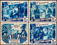 "Zorro Rides Again (Republic, 1937). Title Lobby Card & Lobby Cards (3) (11"" X 14"") Episode 1 -- ""Deat..."