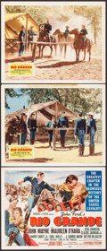 "Movie Posters:Western, Rio Grande (Republic, 1950). Title Lobby Card & Lobby Cards (2)(11"" X 14""). Western.. ... (Total: 3 Items)"