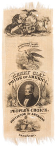 "Political:Ribbons & Badges, Henry Clay: ""Pride of America"" Ribbon...."