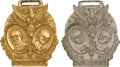 Political:Tokens & Medals, Cox & Roosevelt and Harding & Coolidge: Jugate Watch Fobs. ... (Total: 2 Items)