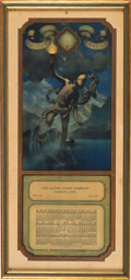 "Advertising:Paper Items, Maxfield Parrish: 1920 Small Edison Mazda Calendar ""Prometheus""...."