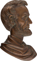 Political:3D & Other Display (pre-1896), Abraham Lincoln: Copper Wall Plaque Dated 1887....
