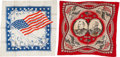 Political:Textile Display (pre-1896), Grover Cleveland and Benjamin Harrison: Jugate Bandana and SilkHankie.... (Total: 2 Items)