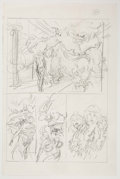 Original Comic Art:Miscellaneous, John Buscema (attributed) - Preliminary Page 26 Art Original Art(Marvel, c. 1980s)....