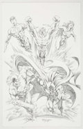 Original Comic Art:Illustrations, Mike Deodato Jr. - Justice League of America Illustration Original Art (undated)....