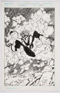 Original Comic Art:Illustrations, Joe Madureira and Harry Candelario - Nightcrawler IllustrationOriginal Art (Marvel, 1993)....