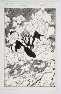 Joe Madureira and Harry Candelario - Nightcrawler Illustration Original Art (Marvel, 1993)